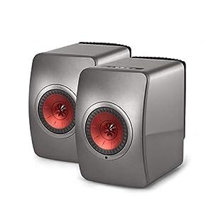 KEF LS50 Wireless - Enceinte sans Fil - Titane | Enceintes Actives | HiFi | Airplay 2 Enceintes | Spotify Connect, Tidal | LS50 système de Musique Active et système stéréo 10