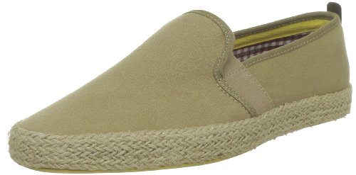 Fish 'N' Chips by Base London - Zapatillas de deporte de tela para hombre Verde (Vert (Khaki))