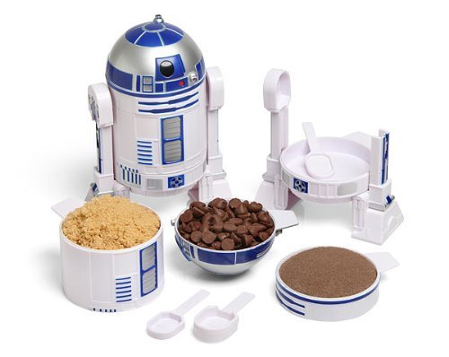 ThinkGeek Star Wars R2-D2 Measuring Cup Set - Body Built from 4 Measuring Cups and Detachable Arms Turn Into Nesting Measuring Spoons - Unique Kitchen Gadget -