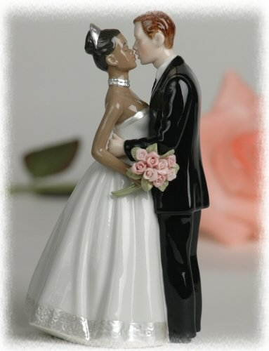 Interracial bride and groom cake toppers consider, that