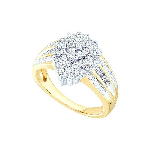 Diamond 10kt Yellow Accent Ring - 9