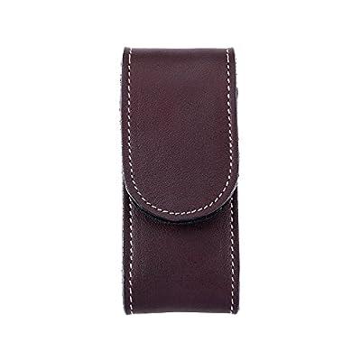 Herbertz Étui en cuir, marron foncé, adulte Fermeture Velcro, passant de ceinture, pour Couteau à 12cm Longueur manche étuis, multicolore, Taille unique
