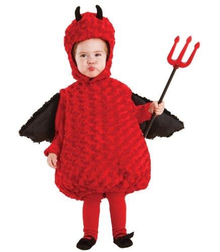 Lil Devil Halloween Costume (Underwraps Baby's Lil Devil Belly-Babies, Red/Black, Medium)