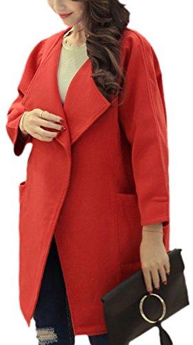 erdbeerloft - Abrigo - Opaco - para mujer Rojo