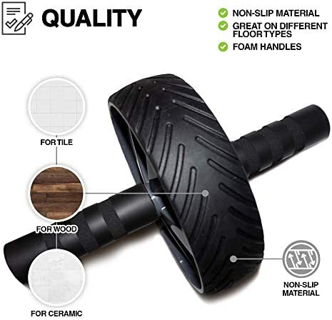 Ab Roller Wheel - Abs Workout Equipment - Ab Roller - Ab Wheel Roller for Core Workout - Exercise Equipment for Home Gym 7