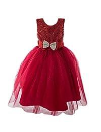 SODI Alta Costura Vestido de Ceremonia para niña Love Color Rojo