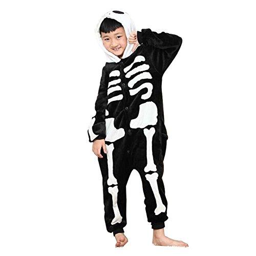 [Shorven Boys Girls Pajamas Costume Animal Hoodie Onesies Large Skeleton] (Boys Skeleton Sweatshirt Hoodie Costumes)