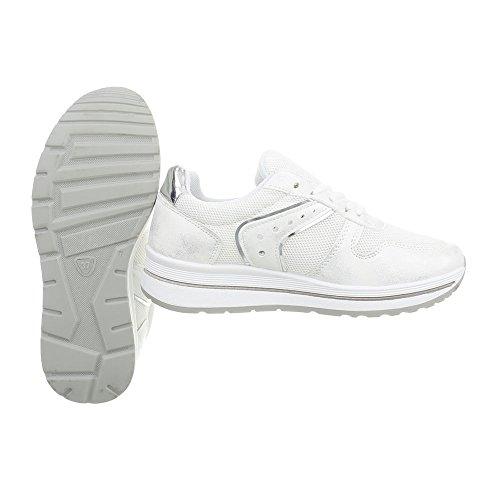 Ital Mujer Plataforma 24 Bajas Zapatos Blanco Para Zapatillas design Pp fw7f4qR