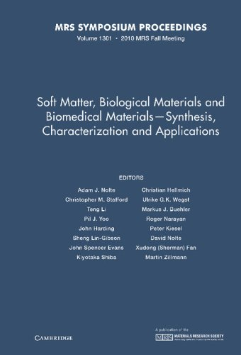 Soft Matter, Biological Materials and Biomedical Materials - Synthesis, Characterization and Applications: Volume 1301 (