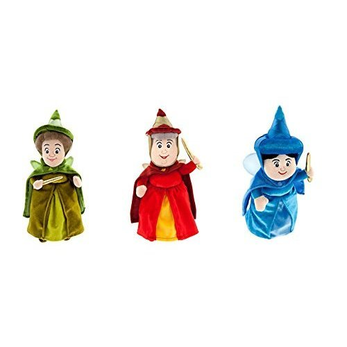 Fairy Godmother Sleeping Beauty Costume - Disney Sofia the First & Sleeping Beauty Fairy Godmothers set of 3 - Flora, Fauna and Merryweather - 11 inches tall