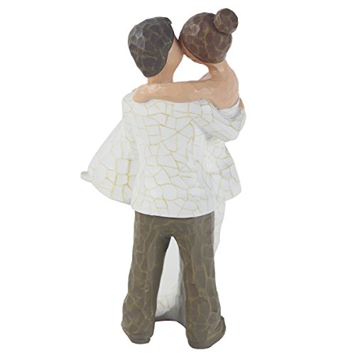 JHP Together Figure, 9Inch Hand-print Together Love Couple Figurines Anniversary Gifts for a Couple, Newlyweds, Wedding Couple, Husband and Wife