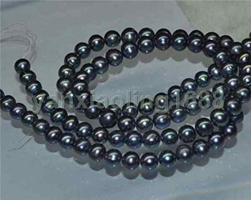 Beads Tahitian Black - FidgetKute Natural 1 Strands 9-10mm AAA Black Round Tahitian Pearl Loose Bead 15