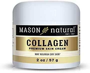 Mason Natural, Collagen Beauty Cream, Pear Scent, 2 Ounce Jar (Pack of 3), 100% Pure Collagen Anti-Aging Moisturizer, Promote Elasticity and Strength in Skin