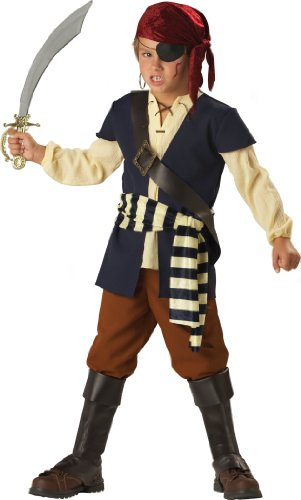 Fun World InCharacter Costumes, LLC Big Boys' Pirate Mate Vest Set