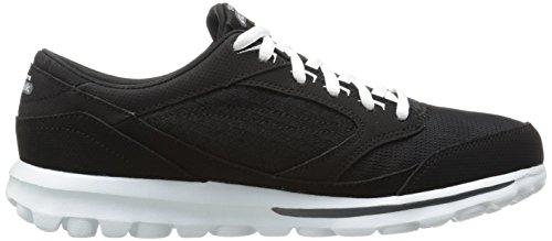 Skechers - Zapatillas de Piel para mujer beige * * negro/blanco