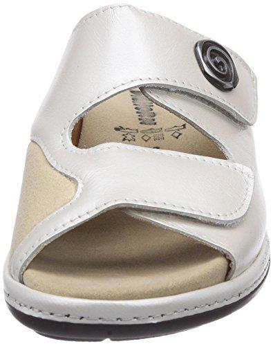 Gevavi 5394 BIGHORN SLIPPER - Zuecos de piel mujer blanco - Weiß (weiss(wit) 01)