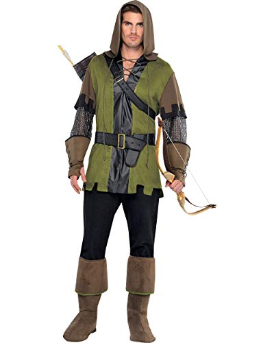 AMSCAN Prince of Thieves Robin Hood Halloween Costume for Men, Standard, with Included Accessories]()