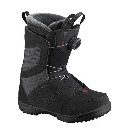 Salomon Snowboards Pearl Boa Snowboard Boot - Women's Black, 8.5 - Pearl Womens Snowboard Boots