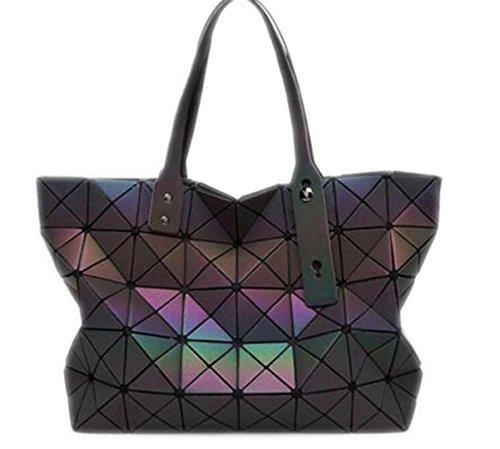 Bolso de la perla de las mujeres Tote Geometry Bolsa de hombro acolchada saco bolsas bolsos de las mujeres 7 Luminous