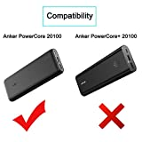 COMECASE Travel Shockproof Hard Case for Anker 20100mAh Portable Charger PowerCore 20100 & PowerCore II 20000. Fits the USB Cable
