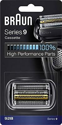 Braun Series 9 92B Cabezal de Recambio para Afeitadora Eléctrica, Compatible con las Afeitadoras Series 9, Negro ...