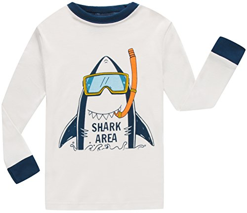 Boys Shark Pajamas Little Boys Toddler PJs Clothes Shirts & Pants Kids Sleepwear Size 5 by shelry (Image #2)
