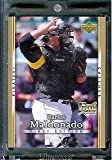 2007 Upper Deck First Edition Baseball Card #34 Carlos Maldonado Pittsburgh Pirates - Mint Condition - In Protective Display Case !