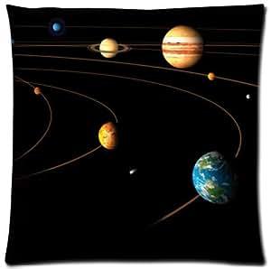 Adorable fundas de almohada Funda de cojín impresión de sistema Solar funda 18x 18pulgadas twin-sides
