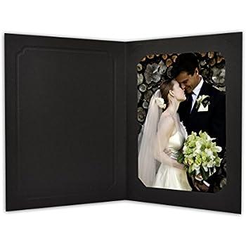 Amazon.com : Cardboard Photo Folder 4x6 - Pack of 100 Black ...