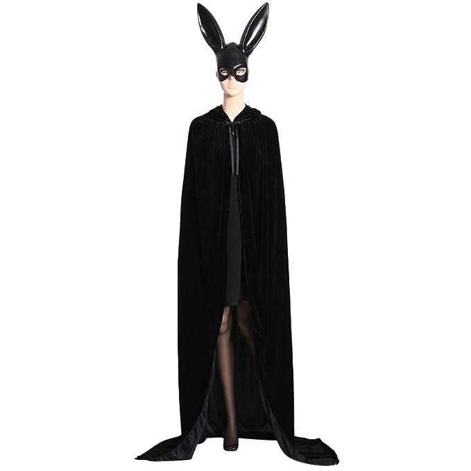 merymall Capa de Halloween, Capa de Príncipe Brujo del Mago Disfraz de Cosplay Adulto de Halloween Disfraz de Fiesta de Disfraces