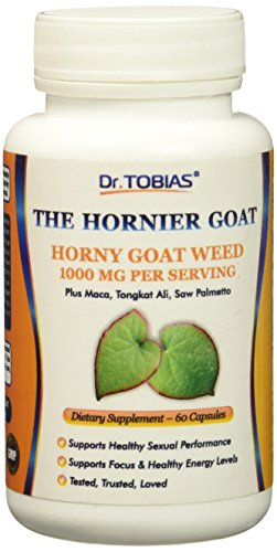 Dr. Tobias The Hornier Goat Horny Goat Weed Plus, 60 Count