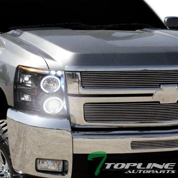 Topline autopart 6000 K HID Xenon Negro cabeza de Halo - Proyector ...