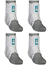 Med Spec ASO Ankle Stabilizer (Medium, 4 Pack, White)