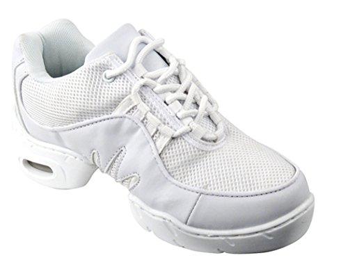 Scarpe Molto Belle Sneakers Bianche Da Ballo Sn002