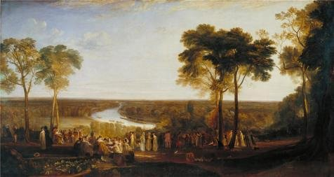 canvas-prints-of-oil-painting-joseph-mallord-william-turner-england-richmond-hill-on-the-prince-rege