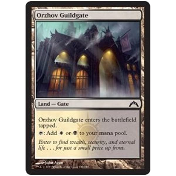 Amazon Com Magic The Gathering Orzhov Guildgate 244 Gatecrash Toys Games Orzhov guildgate has been played in more than 1083 decks in the last year. orzhov guildgate 244