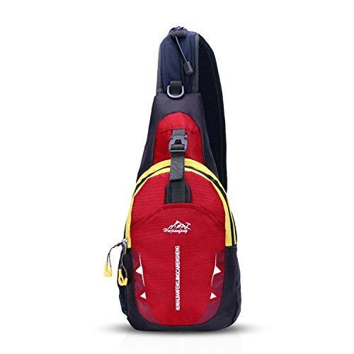 Cheap FANDARE Sling Bag Shoulder Backpack Cycling Crossbody Bag Single One Strap Backpack Running Hiking Outdoor Travel Men/Women Polyester Dark Red