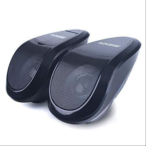 CHERRIESM Reproductor de música MP3 de Motocicleta de 12 V Motocicleta Audio Estéreo Bluetooth Altavoces TF/U Disco Radio...