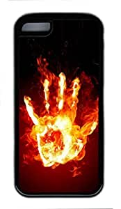 MEIMEI Fire Hand Custom Personalized Design DIY Back Case for ipod touch 5 TPU Black -1210192LINMM58281