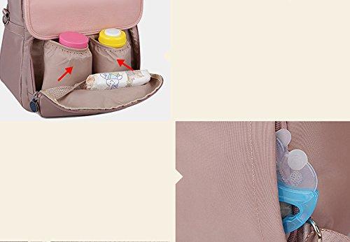 Multifuncionales Y La Negro Gran Bolso Capacidad Manera Hombro Color Bebé Onda Fuera Momia Del Madre Pink De Bolso Niño Maternal 5vwfqBYxw