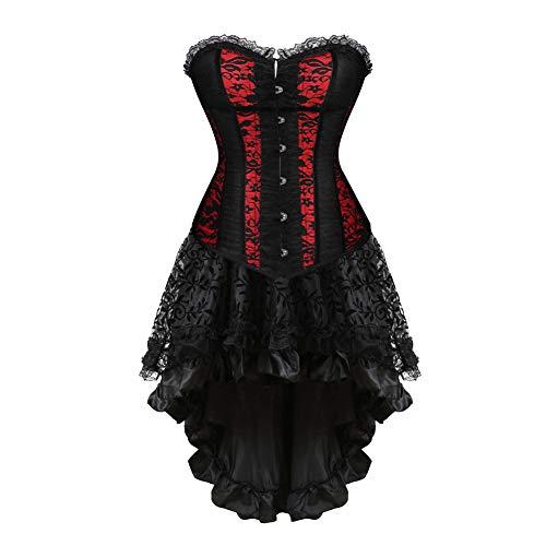 Victorian Burlesque Costumes - Women's Steampunk Corset Dress Costume Burlesque