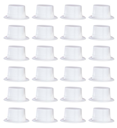 (Beistle 66625 24-Piece Plastic Toppers, White)