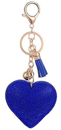 Handbag Charm Key - Giftale Leather Heart Tassel Handbag Charms Keychain for Women Purse Accessories