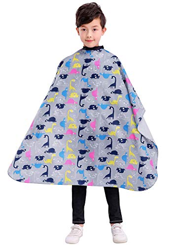 Kids Haircut Barber Cape Cover for Hair Cutting, Styling and Shampoo, for Boys -Dinosaur Printing