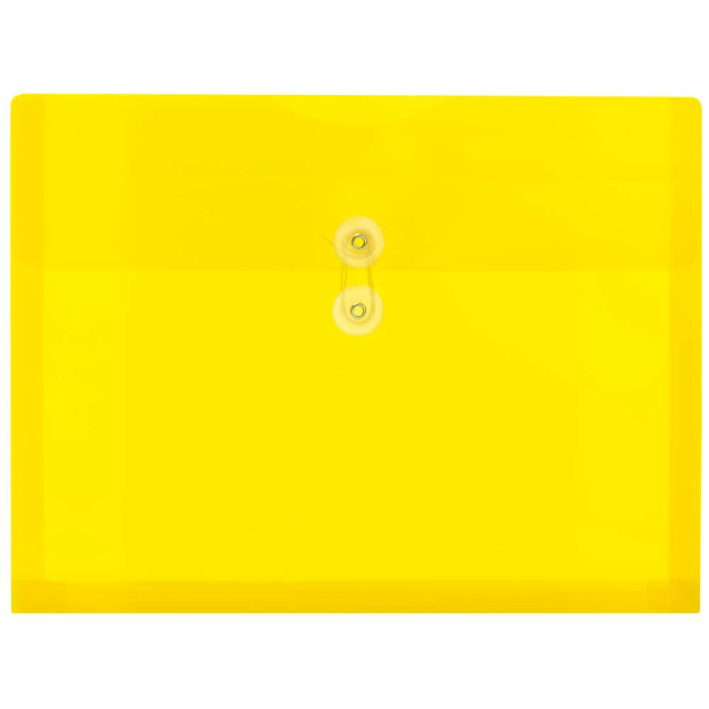 JAM Paper Plastic Envelope with Button and String Tie Closure - Letter Booklet - 9 3/4'' x 13'' - Assorted - 6/pack by JAM Paper (Image #6)