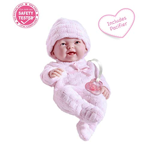 """Mini La Newborn Boutique - Realistic 9.5"""" Anatomically Correct Real Girl Baby Doll dressed in PINK - All VinylDesigned by Berenguer"""