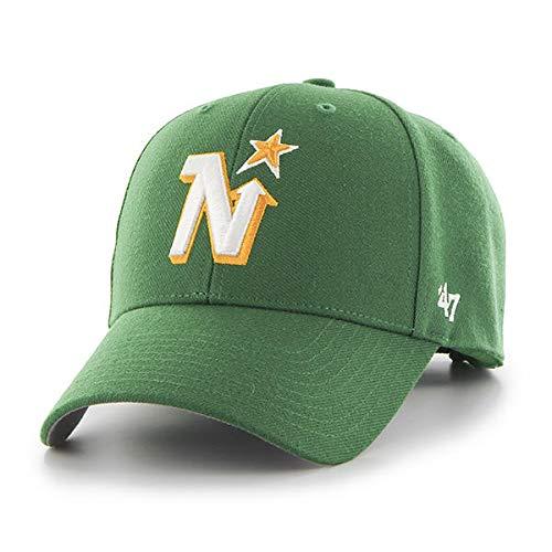 47 Minnesota North Stars NHL MVP Vintage Throwback Green Hat Cap Adult Men's Adjustable ()
