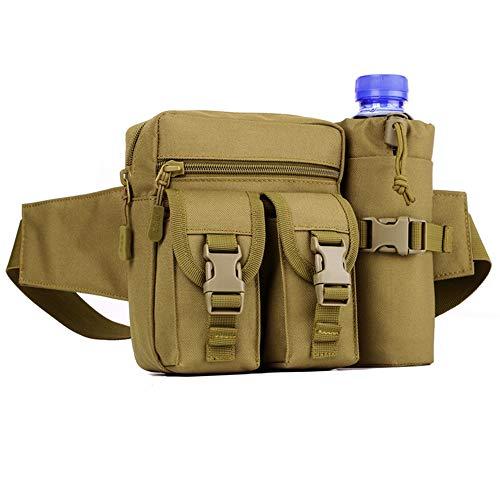 Huntvp Taktisch Hüfttasche mit Flaschenhalter Militärisch Bauchtasche Wasserdicht Gürteltasche MOLLE Wasserflasche…