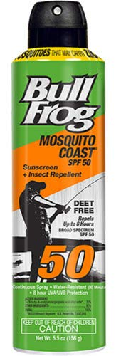 Bull Frog Pack of 4 Bullfrog Mosquito Coast Spray Sunscreen + Insect Repellent SPF 30 6 oz, 4 Pack