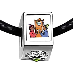 Chicforest Silver Plated Couple Waiting For The New Year Photo Peridot Crystal August Birthstone Flower Charm Beads Fits Pandora Charms